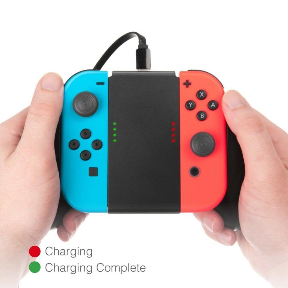 Neue für Konsole Ladegerät Hand Grip Gamepad Ständer Halter 500ma für Nintendo Schalter NS NX 2017 Freude Con X 2 1800mah