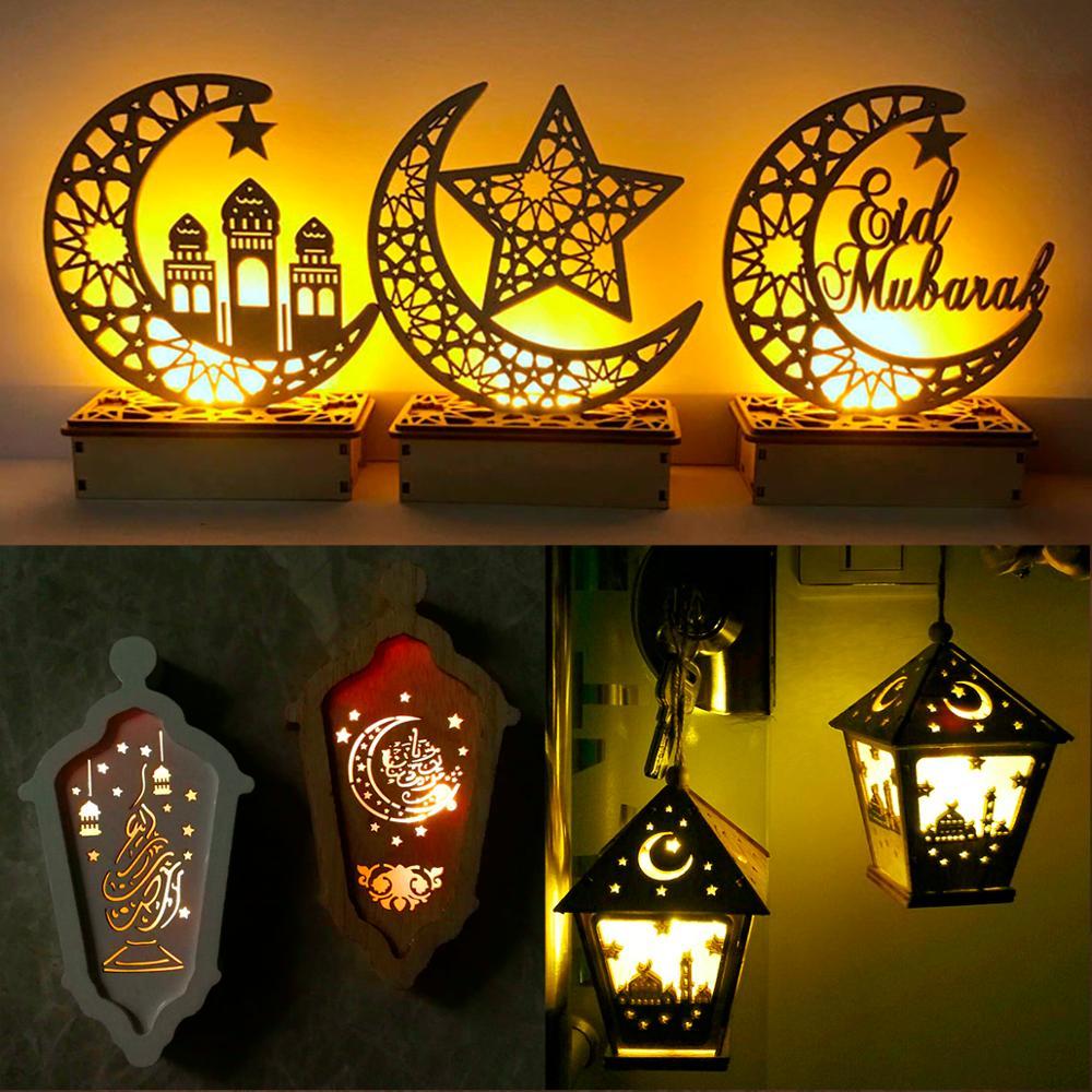 Image 4 - Ajuda ofícios de madeira eid mubarak decoração ramadã e eid  decoração para casa islâmica muçulmano festa suprimentos ramadan kareem  eid al adhaDecorações de festas DIY