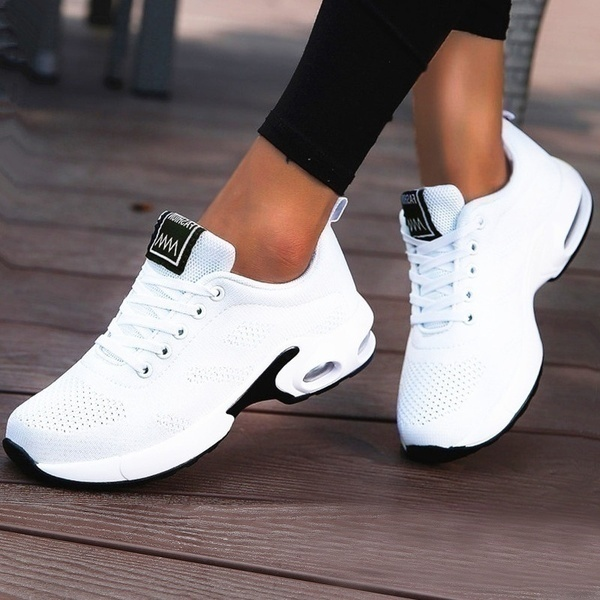 Running Shoes Women Breathable Casual Shoes Outdoor Light Weight Sports Shoes Casual Walking Platform Ladies Sneakers Black 2