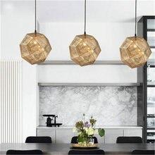 Креативный металлический светильник простой тень многогранная