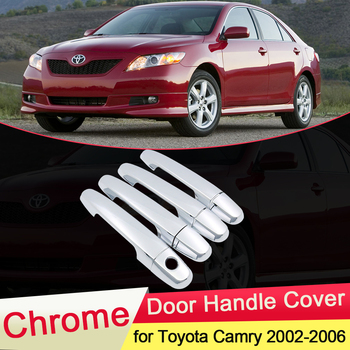 for Toyota Camry XV30 Daihatsu Altis 2002 2003 2004 2005 2006 Chrome Door Handle Cover Trim Cap Car Styling Accessories Stickers image