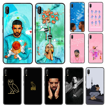 Aubrey Drake Graham SINGER Phone case For Huawei Honor Mate 5 6 7 8 9 10 20 A C X Lite black pretty cell cover painting cover image