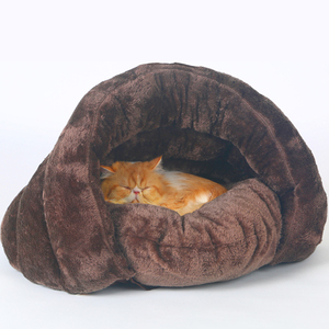 Pet bed for Cats Dogs Soft Nest Kennel Bed Cave House Sleeping Bag Mat Pad Tent Pets Winter Warm Cozy Beds 2 Size S L 3 Colors(China)