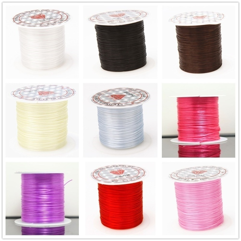 393inch Roll Strong Elastic Crystal Beading Cord 1mm for Bracelets Stretch Thread String Necklace DIY Jewelry