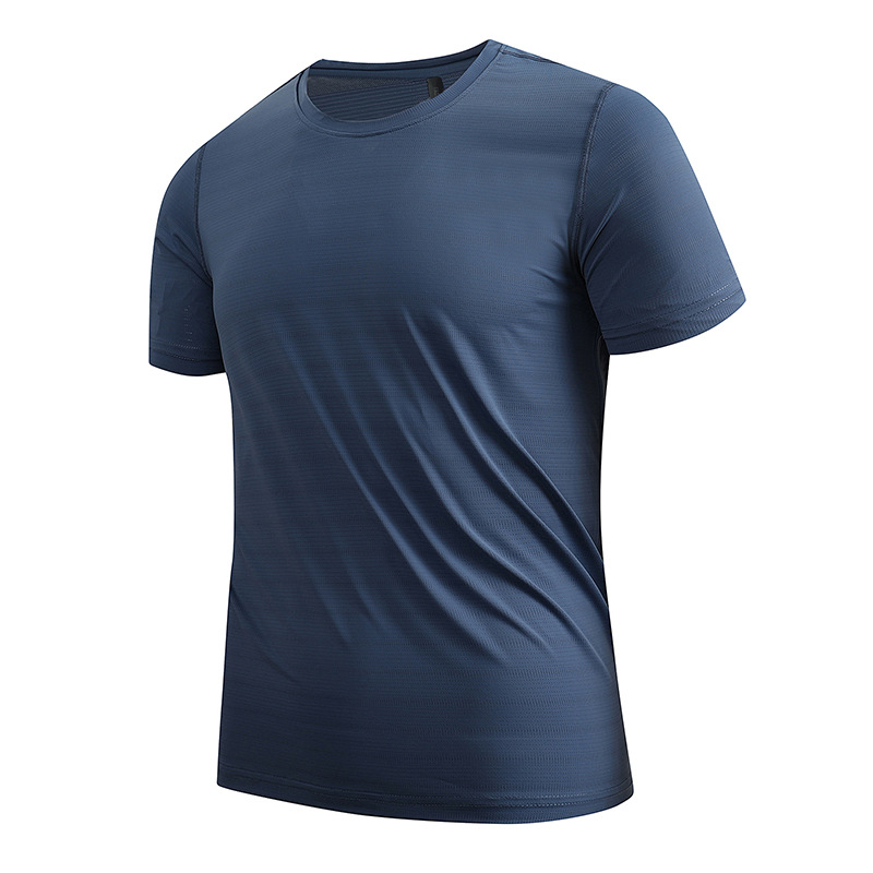 Topos de Manga Esporte Masculino Camisa Treino Sólido Correndo Curta Roupas Esportivas Musculação Fitness Treinamento Ginásio Andando Ativo t