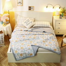 Air Conditioning Quilt Bedspread Soft Throw Blanket Summer Simple Plant flower Fruit Cartoon Comforter Bed Cover