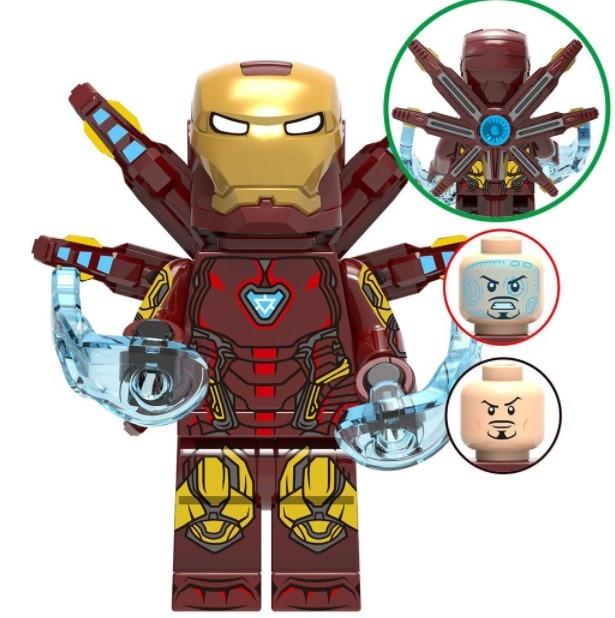 Single Avengers Endgame Iron Man Doctor Strange Thor Ant Man Scarlet Witch Captain Marvel War Machine building blocks Kids Toys