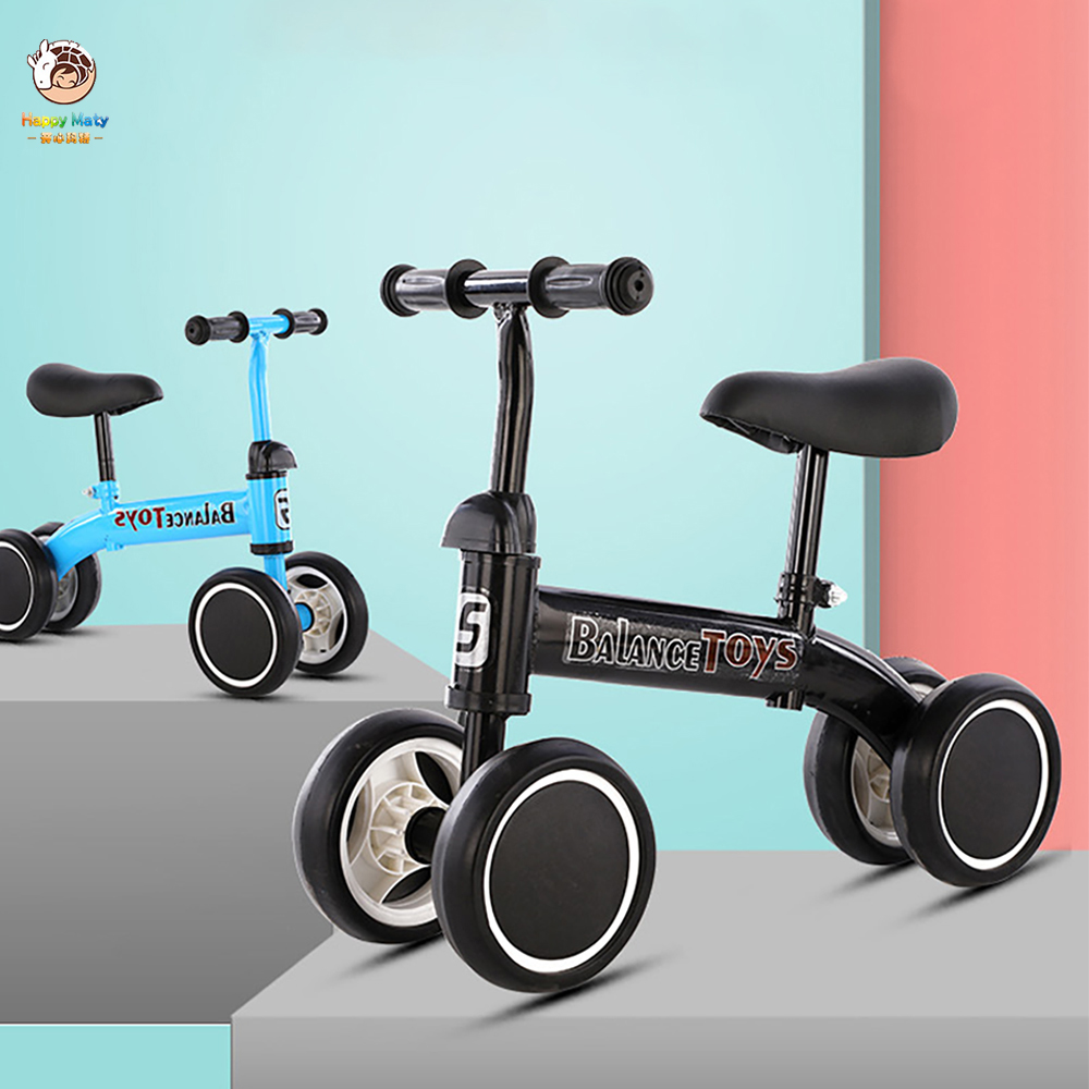 Children's Balance Bike Scooter For 1-3 Years Old Baby Learn To Walk Car Four Wheels Outdoor Sports Bicycle Kids Toy Gifts