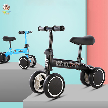 Children's Balance Bike Scooter for 1-3 Years Old Baby Learn to walk Car Four Wheels Outdoor Sports Bicycle Kids Toy Gifts 2018 new real kids light scooter child four round wheel folding bike slide block flash 4 wheels outdoor toys 2 15years bicycle