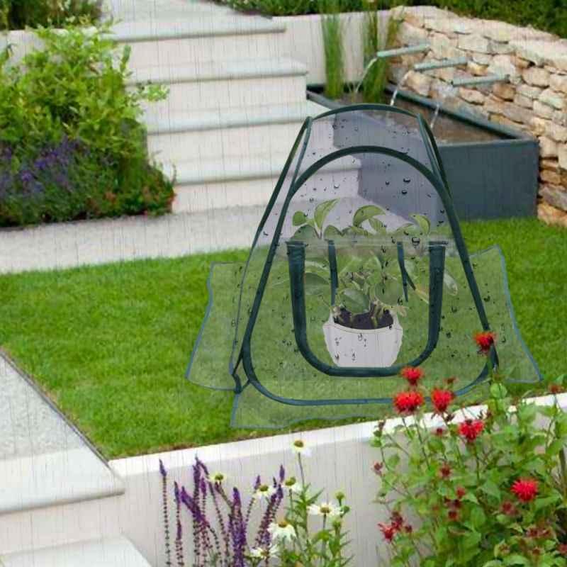 Садовая крышка растения тепличная палатка пвх растение Защитное приспособление в виде цветка зимнее укрытие от дождя наружные инструменты для сада