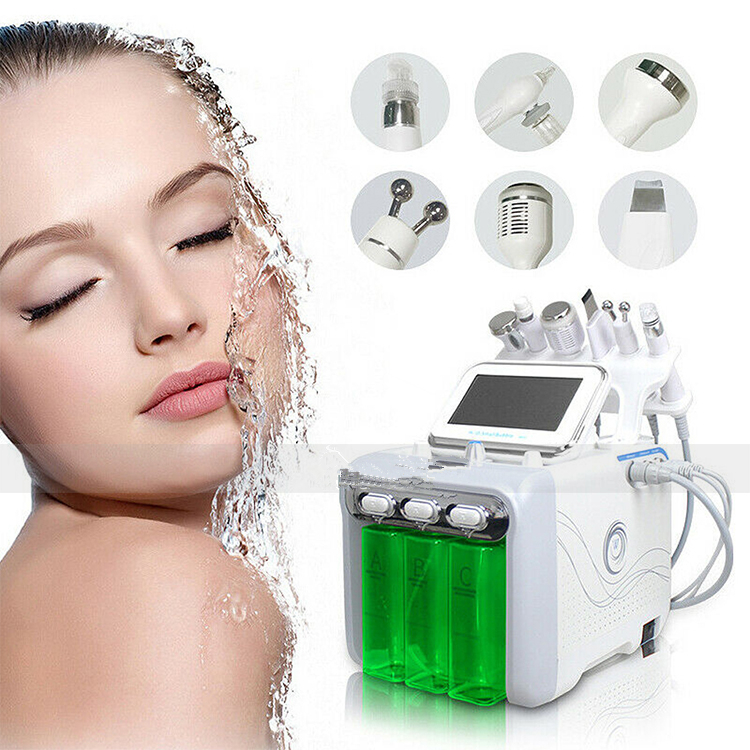 6 IN 1 Spa Oxygen Peeling Jet Beauty Aqua Facial Dermabrasion Peel Machine Needle Free Mesotherapy Device image