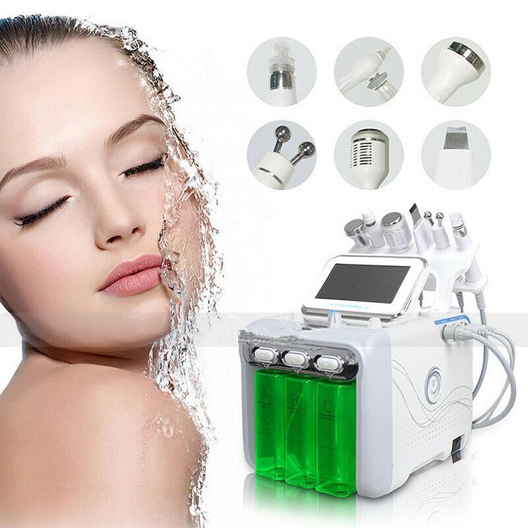 6 IN 1 Spa Oxygen Peeling  Jet Beauty Aqua Facial Dermabrasion Peel Machine Needle Free Mesotherapy Device