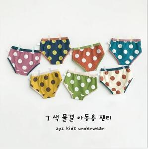 Grande onda dot triângulo algodão shorts para meninos e meninas crianças roupa interior 5 pçs/lote