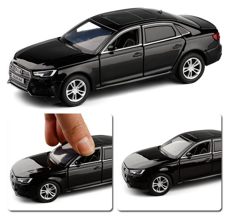Hot Sale High Simulation 2017 A4 Model,1:32 Alloy Pull Back Car Toy,6 Open Door Toy Car,wholesale