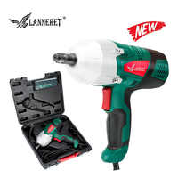 """LANNERET 450W Electric Wrench Corded 1/2"""" Impact Wrench Gun 400N.m Max Torque,Two-Direction Rocker Switch Double-sided Sockets"""