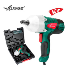 LANNERET 450W Electric Wrench Corded 1/2 Impact Gun 400N.m Max Torque,Two-Direction Rocker Switch Double-sided Sockets