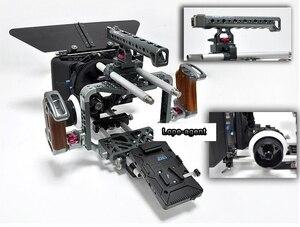 Tilta установка для фотосъемки BMCC Pro, комплект для камера BlackMagic Cinema Cage + Damped follow focus + 4*4 Carbon Matte box + V-lock