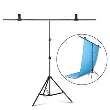 Fotografia w kształcie litery T tło stojak regulowane podparcie System Photo Studio dla włókniny muślin Backdrops
