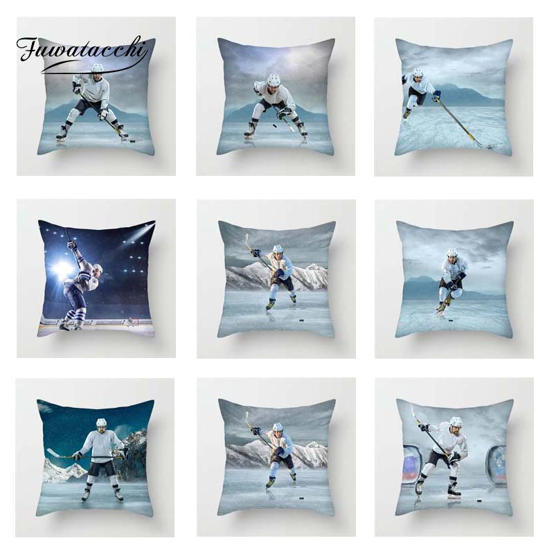 Ice Hockey Sport Cushion Cover  Throw Pillow Cover Decorative Sofa Pillow Case Pillowcase 2019