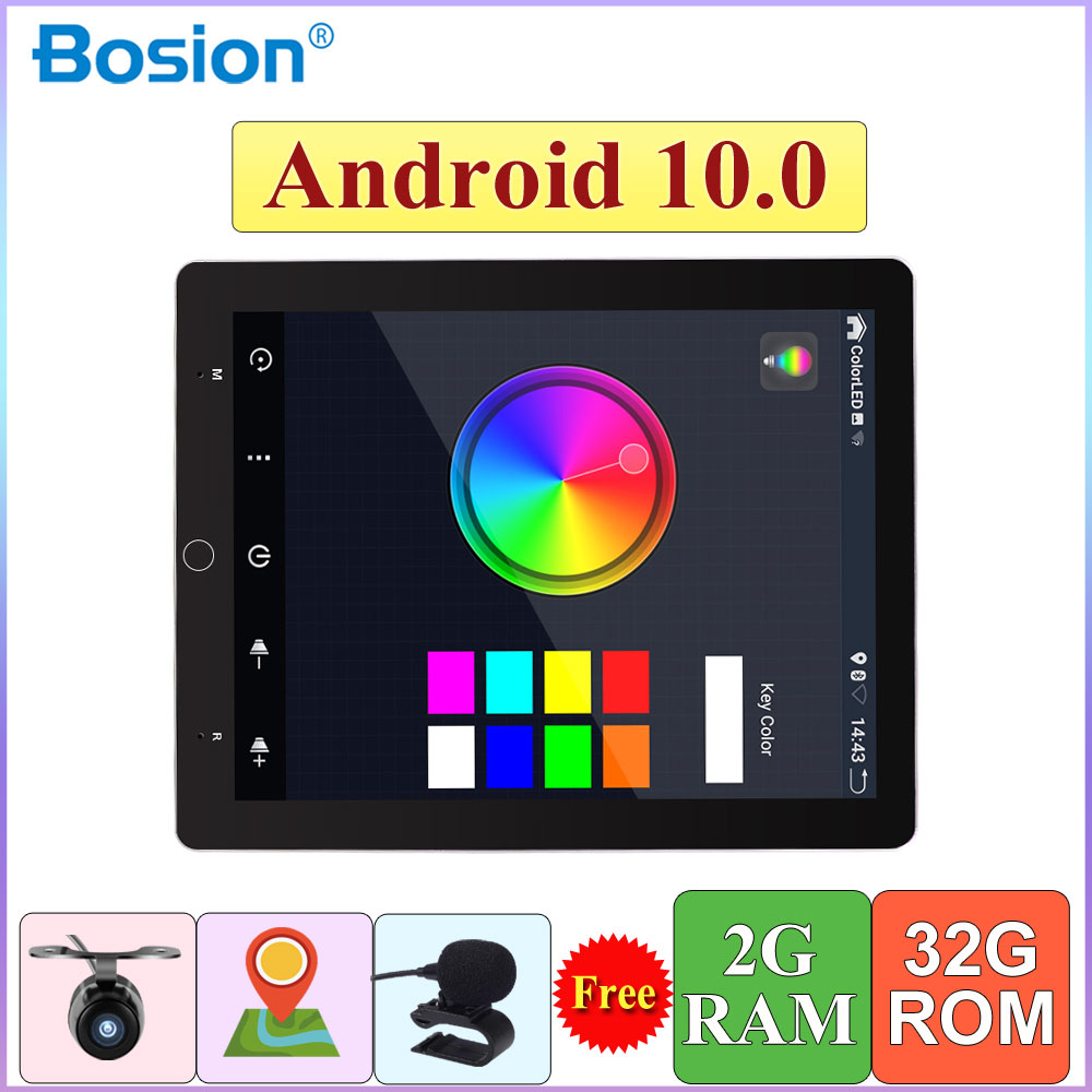 9.7inch 1 din Android 10.0 car radio multimedia player Universal stereo GPS navigation IPS Electric rotation screen 4G 64G|Car Multimedia Player|   - AliExpress