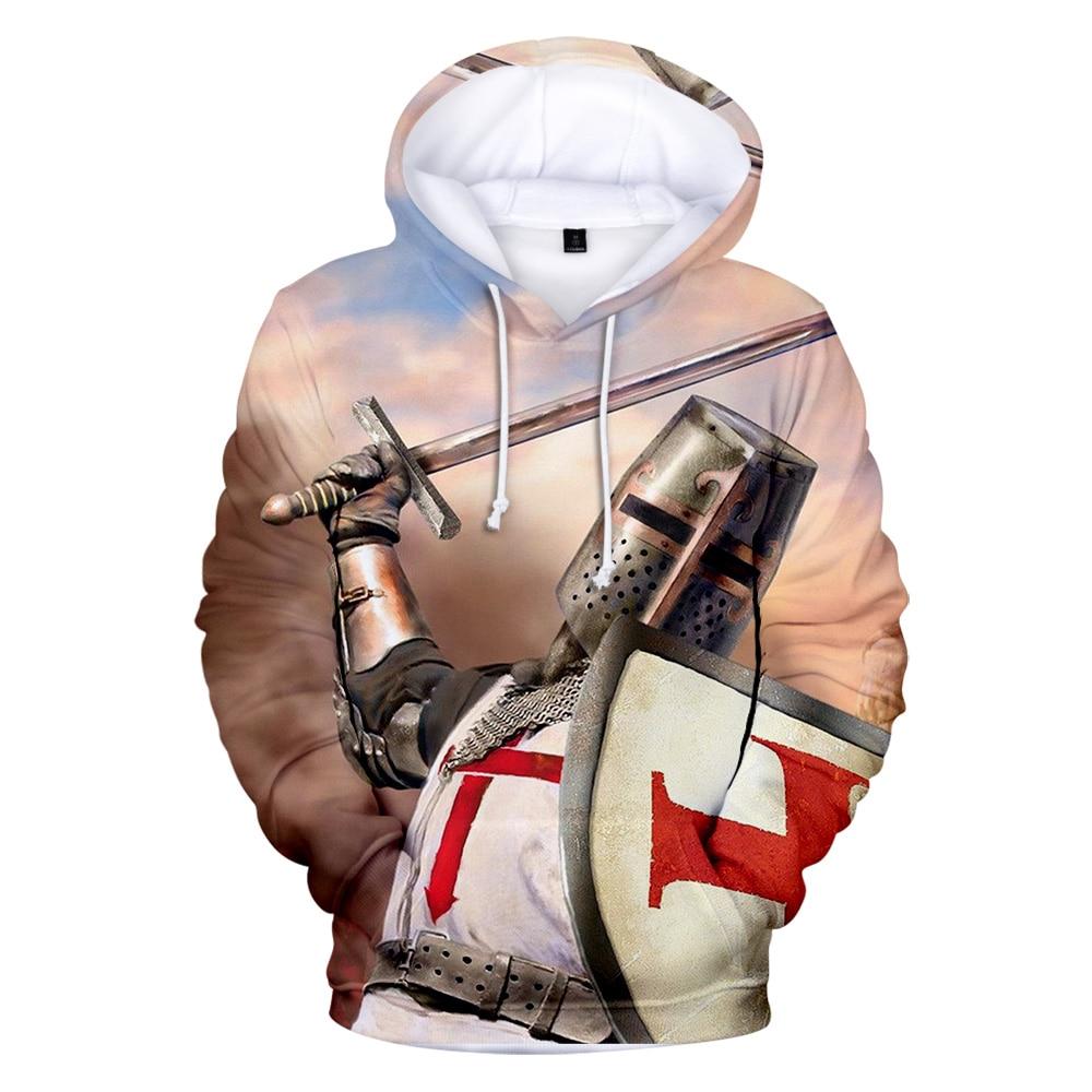 New Knights Tenmplar 3D Hoodie Sweatshirts Men/women/kids Fashion Casual Hoody Knigts Tenmplar 3d Hooded Boys/girls Casual Tops