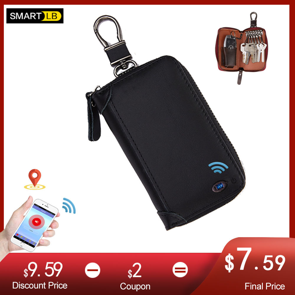 Genuine Leather Smart Men Women Car Key Wallet Multifunction Keys Organizer Coin Purse Bag Small Housekeeper Key Holder Keychain