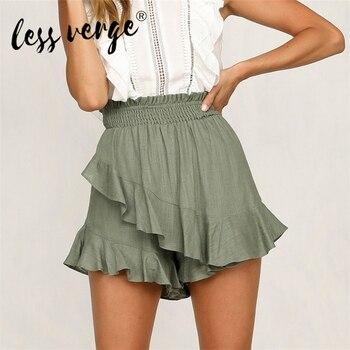 New Fashion Women Shorts Casual Shorts Elastic Waist Shorts Solid Color Mid-waist Shorts Skirts Summer Shorts lettering waist checked dolphin shorts