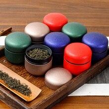 Xin Jia Yi для упаковки чая маленькая жестяная коробка Матовый твердый цветной цилиндр банки для кухни чай Caddy свечной контейнер торговля жестяные банки