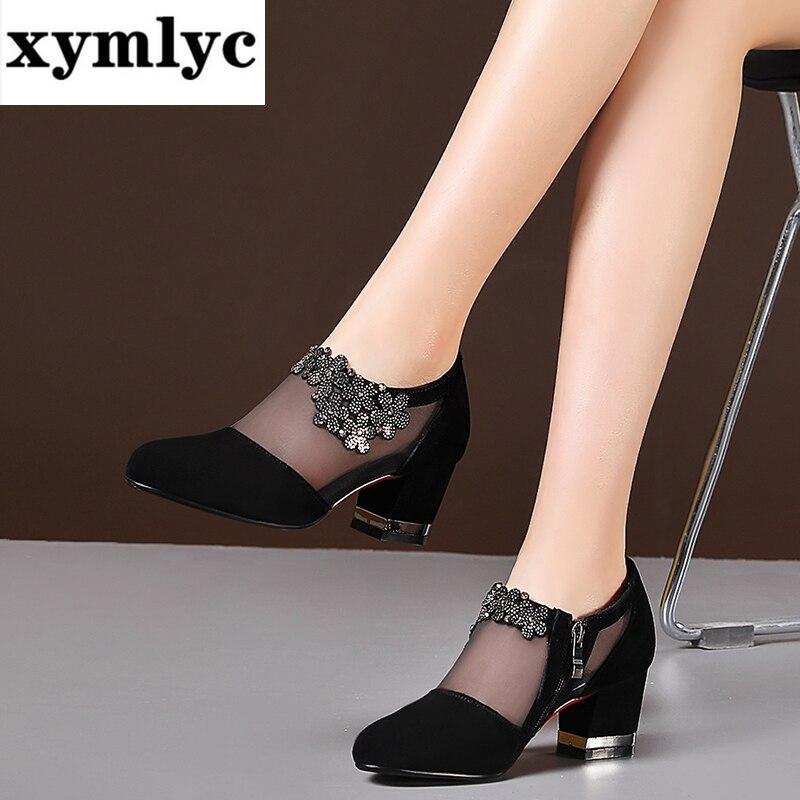Summer Women High Heel Shoes Mesh
