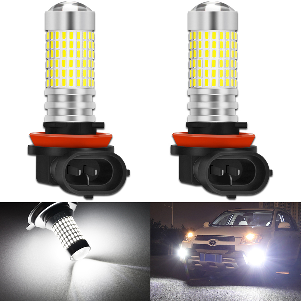 2pcs H8 H11 LED Bulbs HB4 9006 HB3 9005 H10 9145 9140 H16 5202 PSX24W LED Fog Light Bulb Car Driving DRL Auto Lamp 6000k White