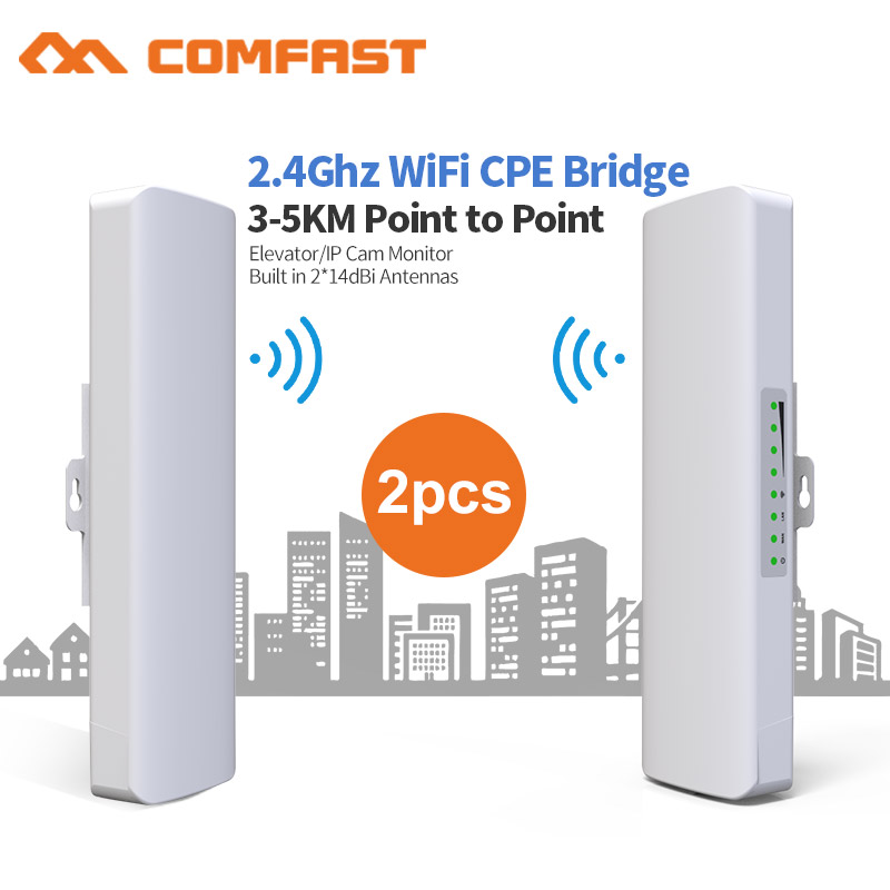 2.4G 300Mbps Outdoor CPE Wireless Bridge & Wifi Repeater Amplifier Point To Point Wifi Transmission 3km Nanostation Router CPE
