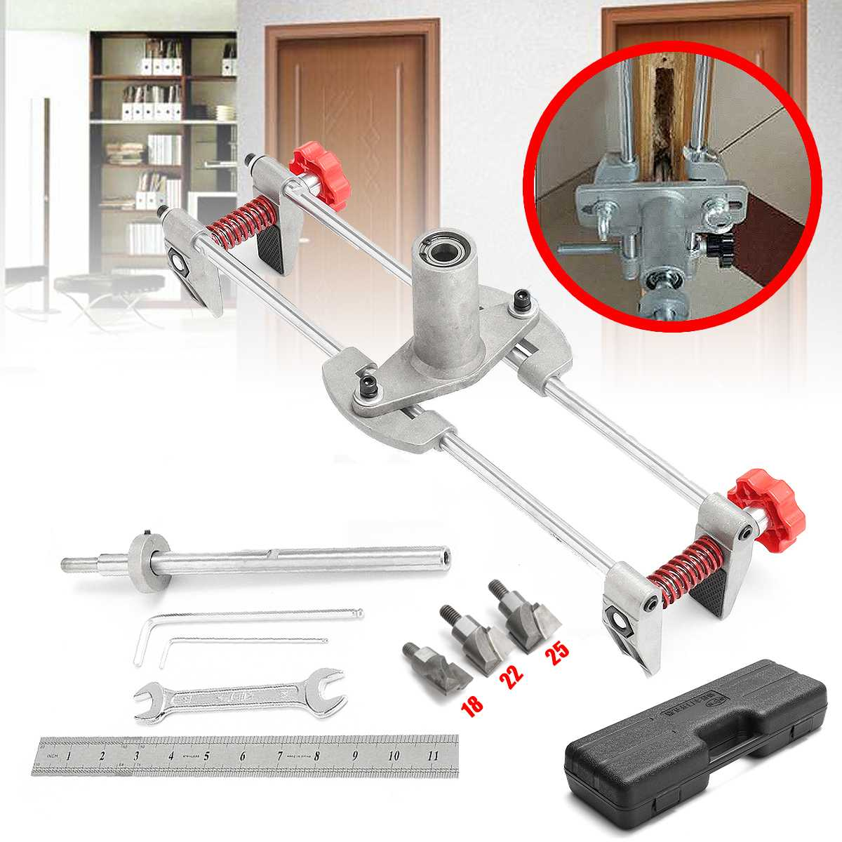 DBB Lock Jig Pcs Door Case With 8 JIG1 Mortiser Security Cutters 3 Kit Mortice Lock Maintenance Tool Door Mortice Key Fitting