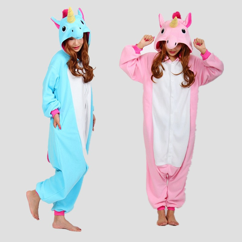 Cute  Winter Unicorn Pajamas Cartoon Sleepwear Lovely Animal Onesie Cute Women Men Girls Unisex Nightie Pajama Sets Unicornio