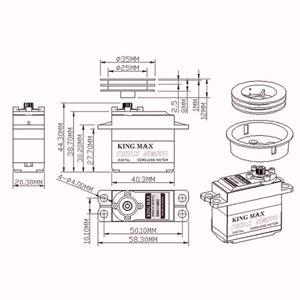 Image 4 - W5513 6T JX 6 schaltet 10kg Standard Metall Getriebe Segel Winde servo Für RC Yacht DC motor 0.09sec 360 grad kingmax SW5513 6MA