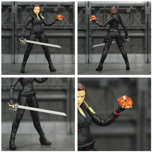 "Image 5 - Avenger 4 Endgame Black Widow 6"" Action Figure Infinity stones Soul Gem Scarlett Johansson Legends KOs SHF Doll Toys Model"