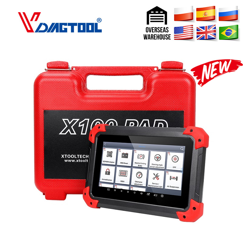 Original XTOOL NEW X100 PAD Professional Auto Key Programmer Odometer Adjustment Oil Reset X100 Pad Free Update 2 Years