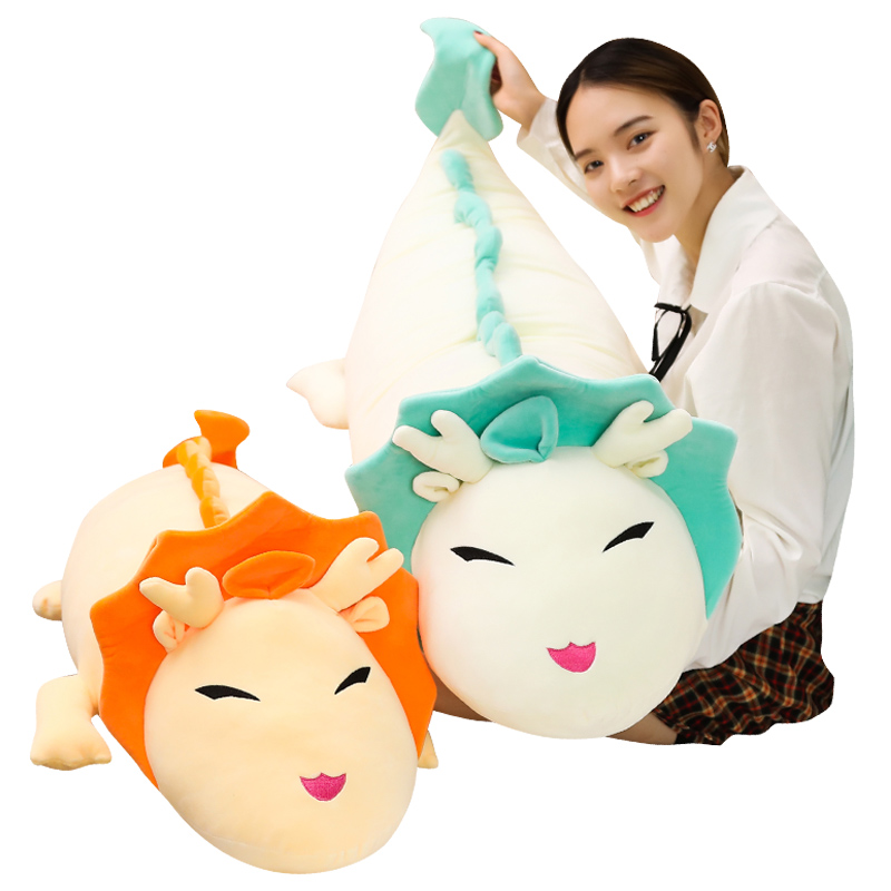 New Soft White Dragon Plush Toy Doll Childrens Sofa Pillow Cushion Home Decoration Birthday Gift