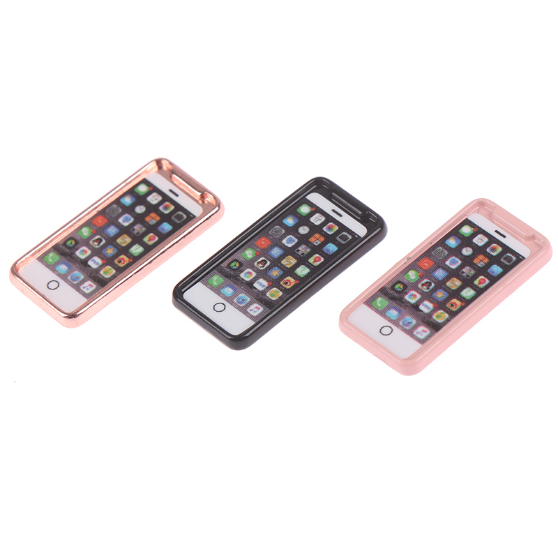 1/12 Dollhouse Miniature Accessories Mini Resign Mobile Phone Model Simulation Toy For Doll House Decoration