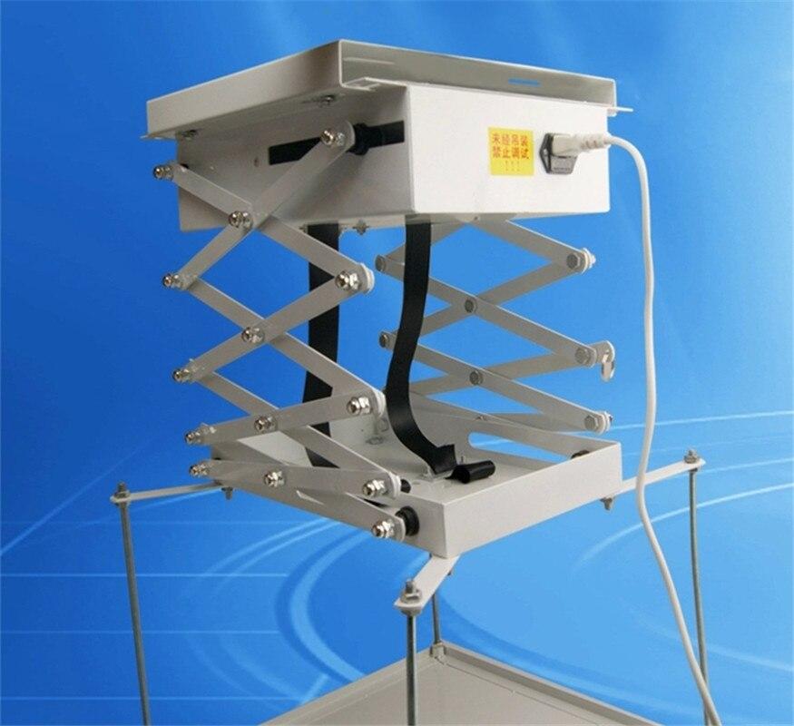 Ciseaux électriques motorisés d'ascenseur de support de projecteur de 1M avec le support électrique à distance de bâti de plafond pour l'école de Hall d'église de cinéma