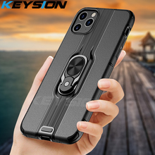 KEYSION Shockproof Case For iPhone 11 Pro Max 11 Pro magnetic Phone back Cover for iPhone 11 XS Max XR X 6s 8 7 Plus 11 Pro Max phone case for iphone 11 pro max shockproof plating clear tpu back cover for iphone 6 6s 8 7 plus x xr xs max 11 pro max fundas