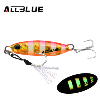 ALLBLUE New DRAGER Metal Cast Jig Spoon 15G 30G Shore Casting Jigging Lead Fish Sea Bass Fishing Lure  Artificial Bait Tackle 16