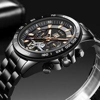 2020 LIGE Clock New Fashion Mens Watches Top Brand Luxury Waterproof Automatic Watch Men Mechanical Wristwatch Relogio Masculino