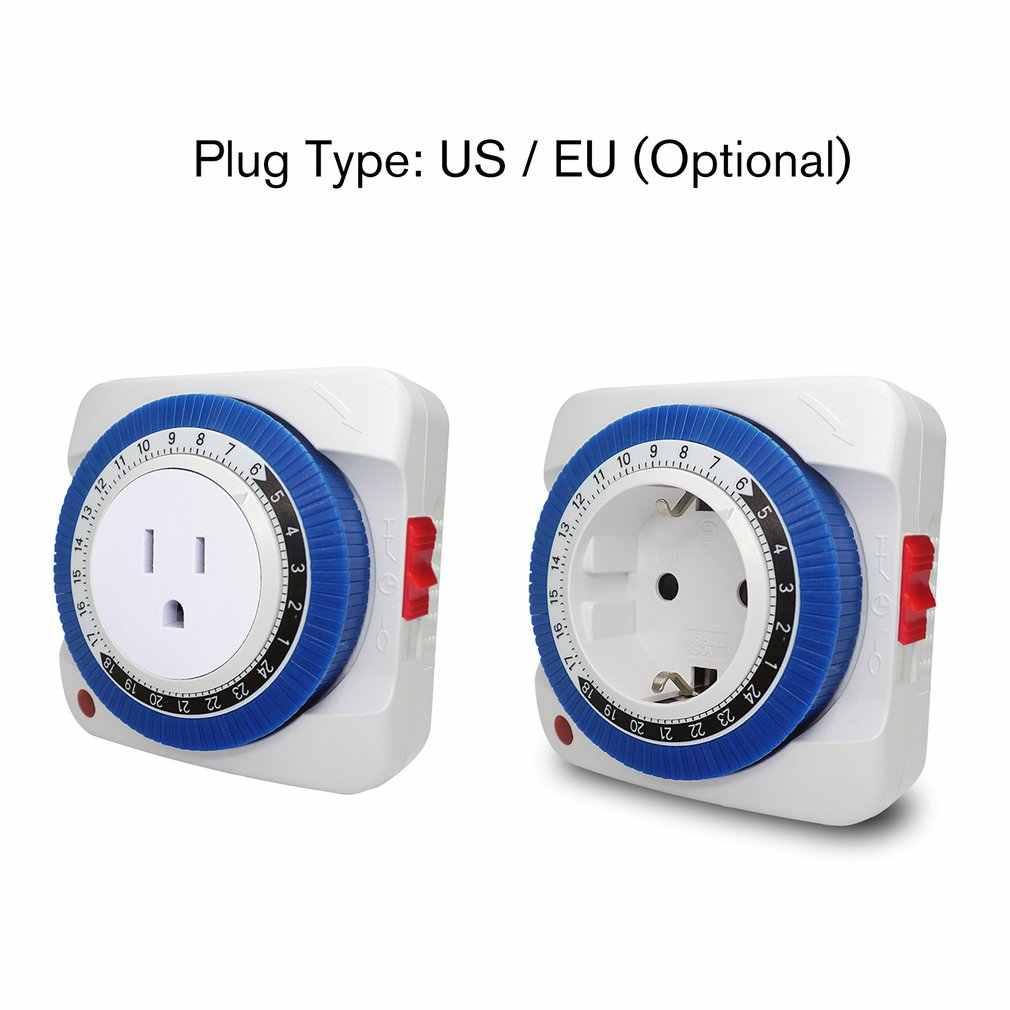 24 Uur Mechanische Programmeerbare Plug In Timer Schakelaar Smart Countdown Schakelaar Socket Indoor Auto Power Off