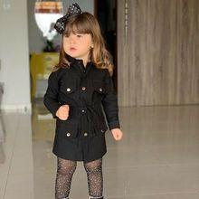 Осенняя одежда, детская куртка для маленьких девочек и мальчиков, пальто, осенне-зимние теплые детские топы, костюмы, плащ