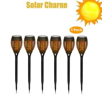 2-8pcs Solar Flame Light Flickering lawn lamp solar Lamp IP65 Waterproof LED Garden Decoration Landscape Lawn P