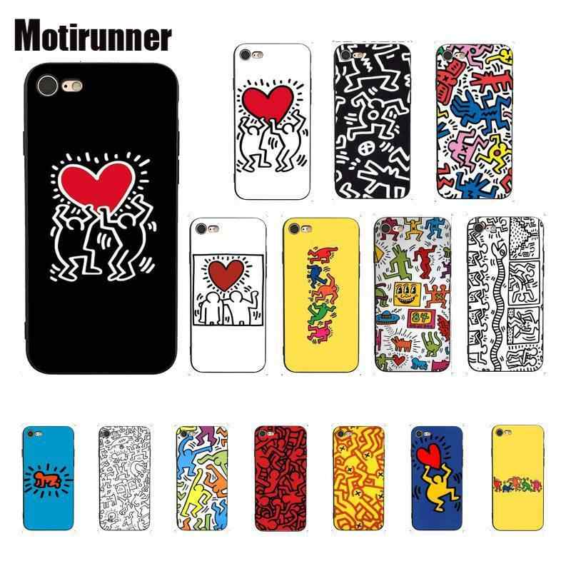 Luxury Brand Keith Haring Art Phone Case For IPhone X XS MAX 6 6s ...
