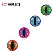 Icerio 50 pçs 3d 4d holográfico olhos de peixe olho de dragão para voar amarrando serpentinas baitfish madeira plástico iscas