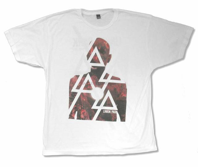 LINKIN PARK BURN H TOUR 2012 WHITE BAND T-SHIRT NEW OFFICIAL ADULT