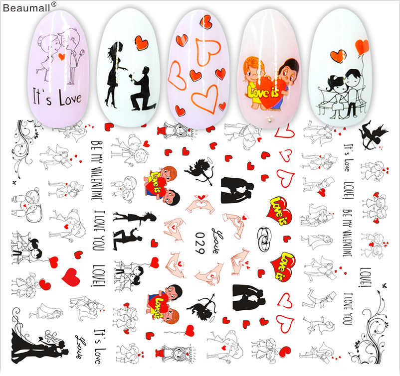 Mode Type Nails Art Manicure Terug Lijm Decal Decoraties Ontwerp Nail Sticker Voor Nagels Tips Beauty