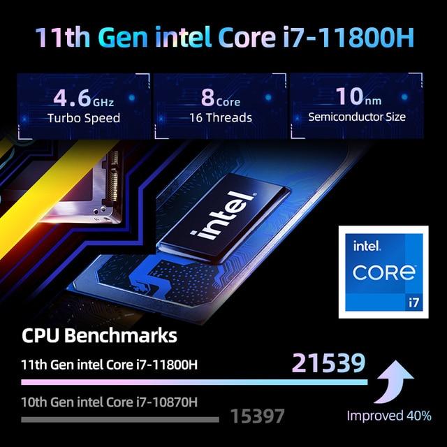 World Premiere Machenike T58-V 11th intel Core i7 Gaming Laptop i7 11800H RTX 3050 Laptops 144Hz Notebook Computer Windows 10 2